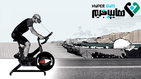 دوچرخه سواری واقعی در دنیای مجازی