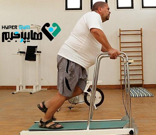 برنامه کار با تردمیل، برای افراد با اضافه وزن بالا
