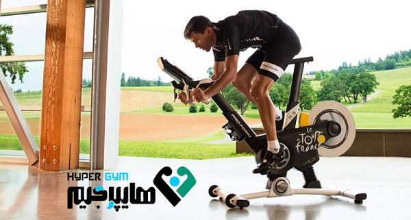 دوچرخه ثابت به تقویت عضلات بدن کمک می کند
