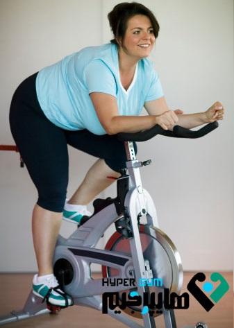 دوچرخه ثابت،یک راه ارزان برای کوچک شدن شکم